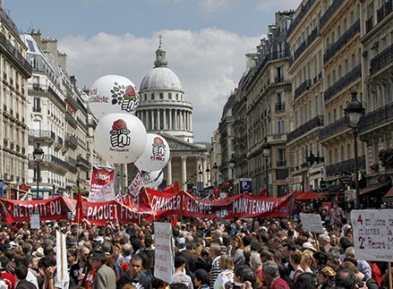 Paris, France on May Day 2009