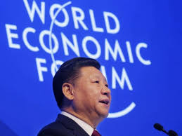 Chinese President Xi in Davos, Switzerland