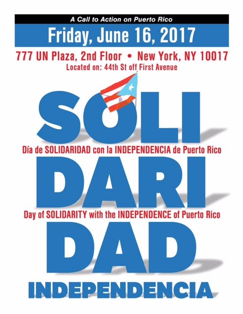 Action Alert: Second Annual Day of Solidarity with Puerto Rico