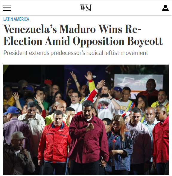 Media De-legitimize Venezuelan Elections