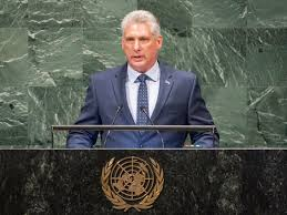 New Cuban President Miguel Diaz-Canel Speaks to UN