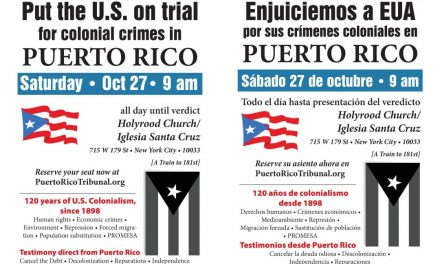 Upcoming People's Tribunal on US Crimes Against Puerto Rico