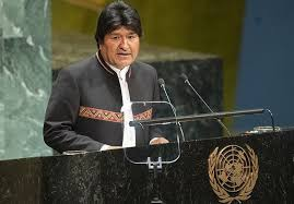 Bolivian President Evo Morales at the United Nations