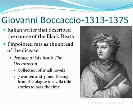 Writing at a Time of Plague: Boccaccio, Dante, Petrarch, Chaucer