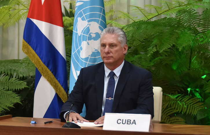 Cuban President Speaks to UN General Assembly